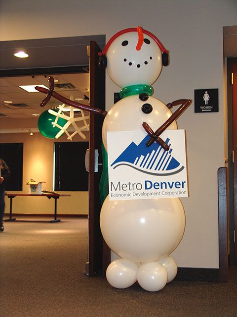 Snowman party decoration denver