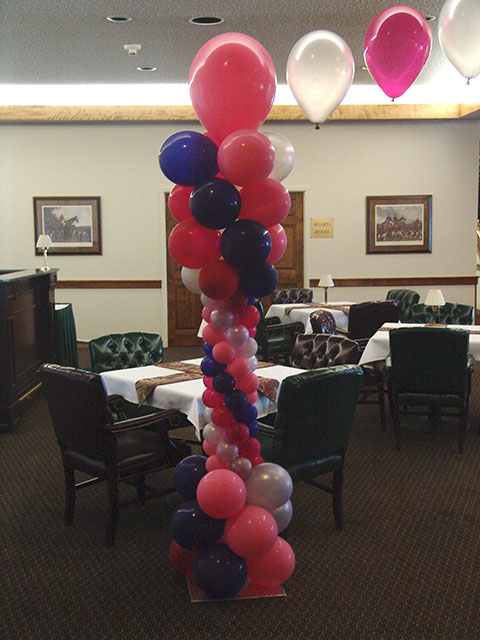 pink princess balloon column
