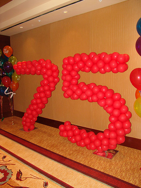 large balloon number sculpture denver