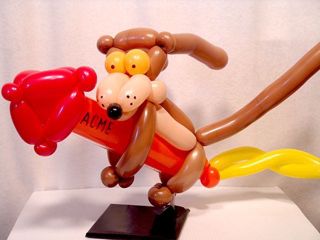 wile e coyote balloon centerpiece denver