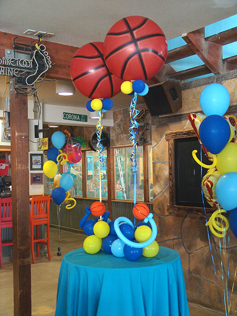 Basketball Balloon centerpieces denver
