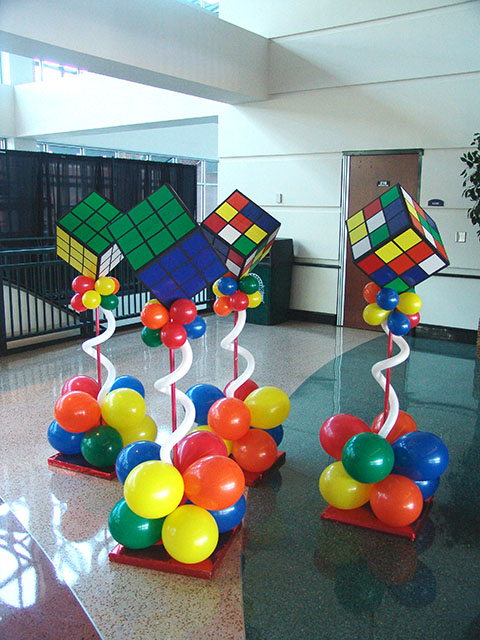 rubiks cube balloon columns denver colorado
